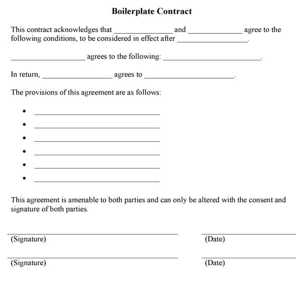 Boilerplate Contract Example